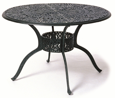 """The Tribeca Collection Commercial Cast Aluminum 54"""" Round Counter Height Table With Inlaid Lazy Susan"""