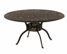 "The Tribeca Collection Commercial Cast Aluminum 54"" Round Dining Table With Inlaid Lazy Susan"