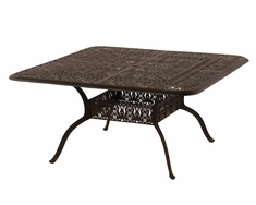 "The Tribeca Collection Commercial Cast Aluminum 60"" Square Dining Table"