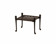 The Tribeca Collection Commercial Cast Aluminum Ottoman