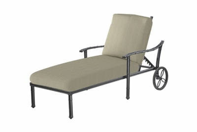 The Tropica Collection Commercial Cast Aluminum Chaise Lounge