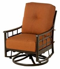 The Tucson Collection Commercial Cast Aluminum Club Swivel Glider