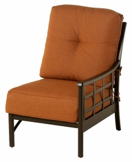 The Tucson Collection Commercial Cast Aluminum Left Arm Stationary Club Chair