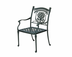 The Tybe Collection Commercial Cast Aluminum Stationary Dining Chair