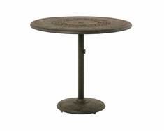 "The Tuscana Collection Commercial Cast Aluminum 46"" Round Pedestal Bar Height Table"