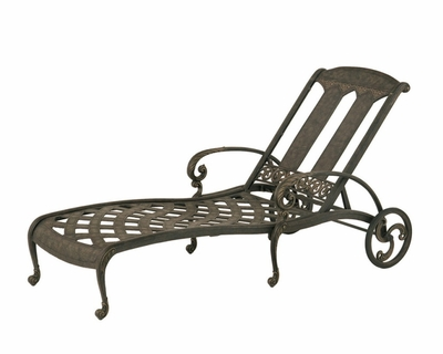 The Tuscana Collection Commercial Cast Aluminum Chaise Lounge