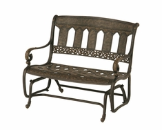 The Tuscana Collection Commercial Cast Aluminum Double Glider