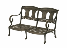The Tuscana Collection Commercial Cast Aluminum Loveseat