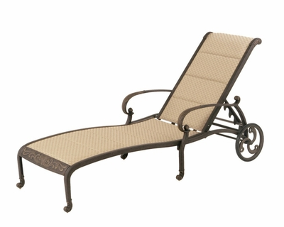 The Tuscana Collection Commercial Cast Aluminum Sling Chaise Lounge