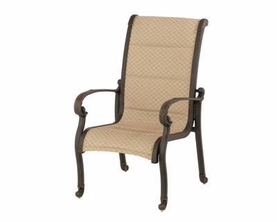 The Tuscana Collection Commercial Cast Aluminum Sling Stationary Dining Chair