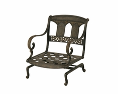 The Tuscana Collection Commercial Cast Aluminum Spring Base Club Chair