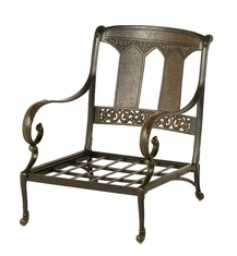 The Tuscana Collection Commercial Cast Aluminum Stationary Club Chair