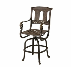 The Tuscana Collection Commercial Cast Aluminum Swivel Bar Height Chair