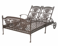 The Tybe Collection Commercial Cast Aluminum Chaise Lounge Daybed