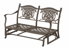 The Tybe Collection Commercial Cast Aluminum Loveseat Glider