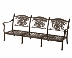 The Tybe Collection Commercial Cast Aluminum Sofa