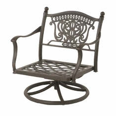 The Tybe Collection Commercial Cast Aluminum Swivel Club Chair