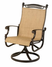 The Tybe Collection Commercial Cast Aluminum Swivel Dining Chair