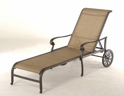 The Valencia Collection Commercial Cast Aluminum Sling Chaise Lounge