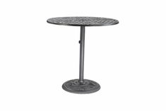 "The Vonte Collection Commercial Cast Aluminum 42"" Round Pedestal Bar Height Table"