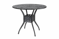 "The Vonte Collection Commercial Cast Aluminum 48"" Round Bar Height Table"
