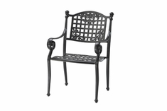The Vonte Collection Commercial Cast Aluminum Stationary Dining Chair