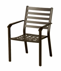 The Wheaton Collection Commercial Cast Aluminum Stationary Dining Chair
