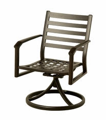 The Wheaton Collection Commercial Cast Aluminum Swivel Dining Chair