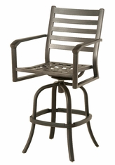 The Wheaton Collection Commercial Cast Aluminum Swivel Bar Height Chair