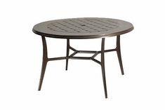 "The Willow Collection Commercial Cast Aluminum 48"" Round Dining Table"