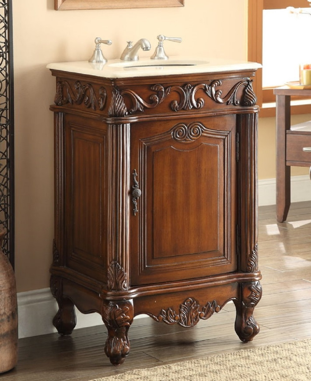 21 Inch Bathroom Vanity Traditional Style Medium Brown Color (21Wx21Dx34H) CCF2801MTK