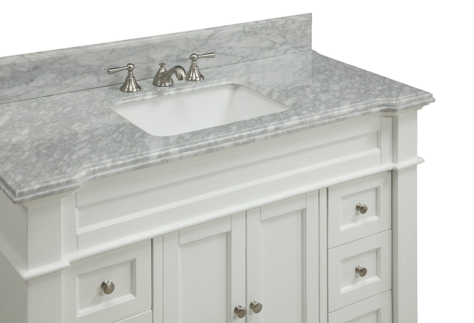 48 inch White Shaker Bathroom Vanity Cottage Beach Style ...