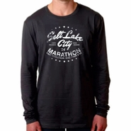 "2014 SLC Marathon & Half Marathon Men's Tee ""SLC"" Design - Long-Sleeve - Heavy Metal"