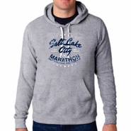 "2014 SLC Marathon & Half Marathon Men's Tri-Blend Hoody - ""SLC"" Design - Heather Grey"