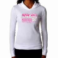 "2014 SLC Marathon & Half Marathon Women's Thermal Hoody - ""Mountain Flower"" Design - White"