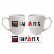 CapTex Tri: Logo 16 oz. Bistro Mug - White Ceramic