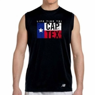 CapTex Tri: 'Flag' Men's Sleeveless Tank - Tech - Black