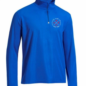 CapTex Tri: Left Chest Print Men's 1/4 Zip Pullover - Tech - Royal - Click to enlarge