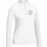 CapTex Tri: Left Chest Print Women's 1/4 Zip Pullover - Tech - White