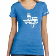 CapTex Tri: 'State' Women's SS Tee - Tri-Blend - True Royal
