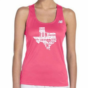 CapTex Tri: 'State' Women's Tank Singlet - Tech - Safety Pink - Click to enlarge