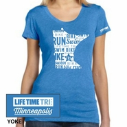 MPLS Tri: 'State' Women's SS Fashion Tee - True Royal - by Bella®