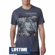 Salt Lake City Marathon 'Big Print' Design - Men's SS Tee - Indigo Tri-Blend