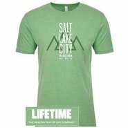 Salt Lake City Marathon 'Block' Design - Men's SS Tee - Apple Green