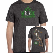 "Salt Lake City Marathon 2015 ""Map"" Men's SS Tee - Charcoal Black Tri-Blend"