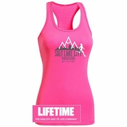 Salt Lake City Marathon 'Skyline' Tech Tank - Women's Racerback - Hot Pink