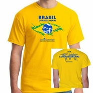 Miami Marathon & Half Marathon: 'Brasil' Men's SS Tech Tee - Team Yellow