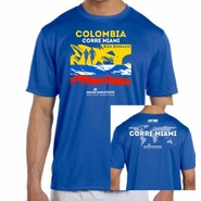 Miami Marathon & Half Marathon: 'Colombia' Men's SS Tech Tee - Royal