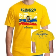 Miami Marathon & Half Marathon: 'Ecuador' Men's SS Tech Tee - Team Yellow