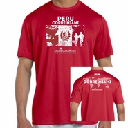 Miami Marathon & Half Marathon: 'Peru' Men's SS Tech Tee - Cherry Red
